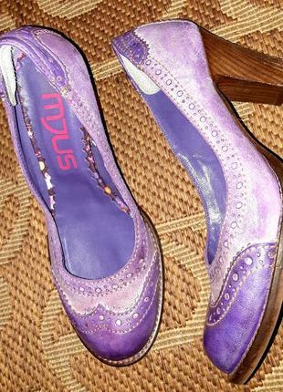 Терміново розпродаж! класні шкіряні туфлі броги mjus