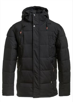 Зимняя мужская куртка черного цвета, d801