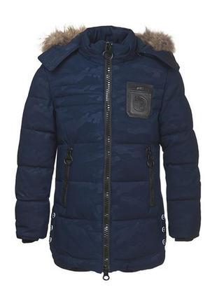Теплая зимняя куртка на мальчика 11-16 лет, размеры 146-170, м...