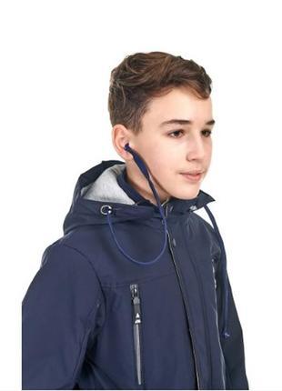 Осенняя куртка на мальчика от 9 до 14 лет, куртка с наушниками...