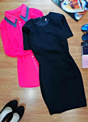 Женское базовое лаконичное офисное шерстяное платье футляр - р...
