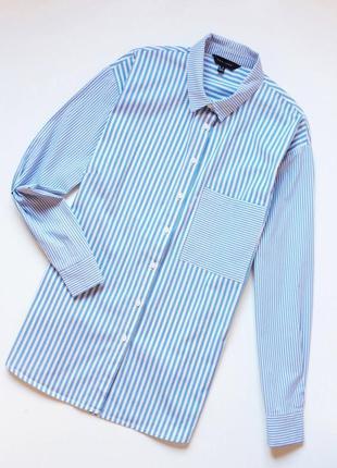 New look рубашка в комбинированную полоску