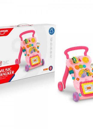 Детская каталка-ходунки с игровым центром HE0822-23 и доской д...