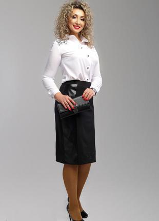 Красивая юбка карандаш, в строгом черном цвете, р.54 код 3105м