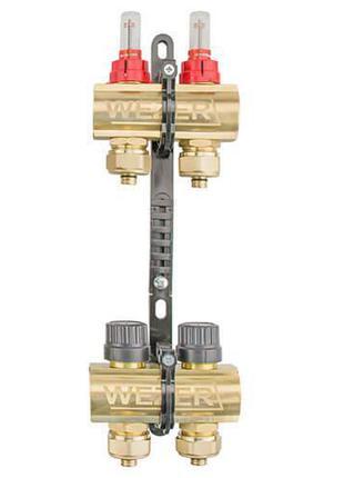 Коллектор теплого пола в сборе Wezer WF-2B с расходомерами