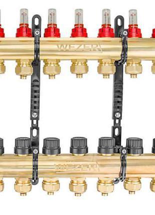 Коллектор теплого пола в сборе Wezer WF-7B с расходомерами