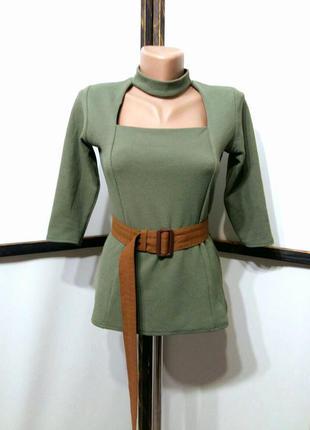 Блуза блузка с чокером бренд boohoo