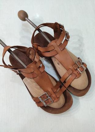 Yokono кожаные ортопедические босоножки, сандалии на пробковой...