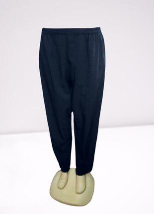 Темно синие брюки на резинке, большой размер