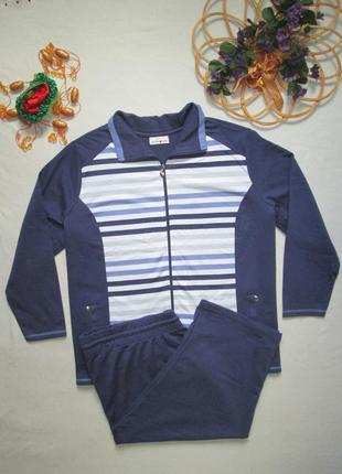 Шикарный трикотажный спортивный костюм вставка в полоску helen...