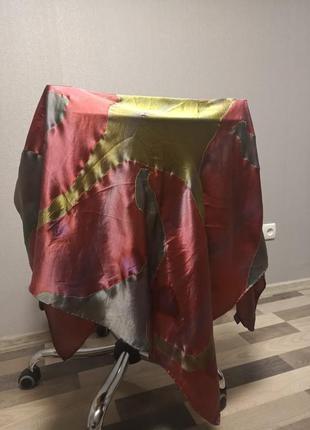 Роскошный, большой шелковый платок