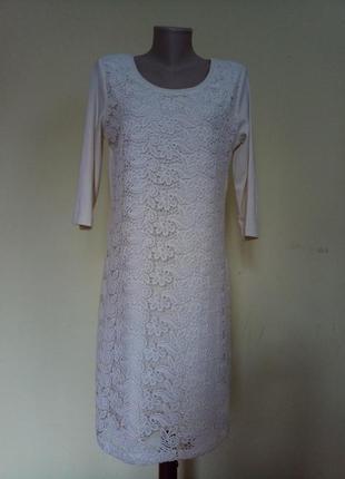 Шикарное вечернее нарядное гипюровое платье