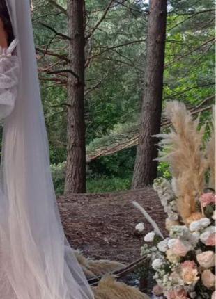 Продам свадебную фату бежевого цвета !