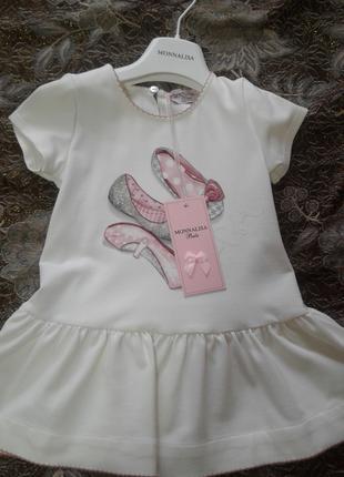 Детская одежда, платье итальянского бренда MONNALISA BEBE новое