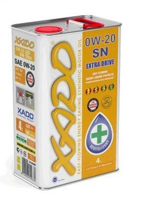 Масло автомобильное, 4л (синтетика, 0W-20SN Atomic Oil, API SN...