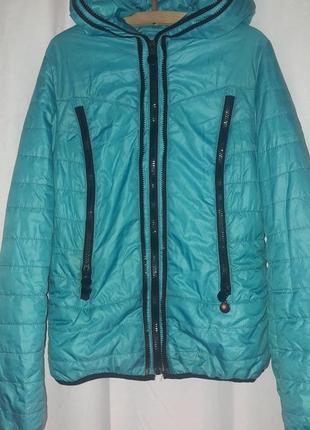 Куртка для девочки голубая весна/осень демисезонная