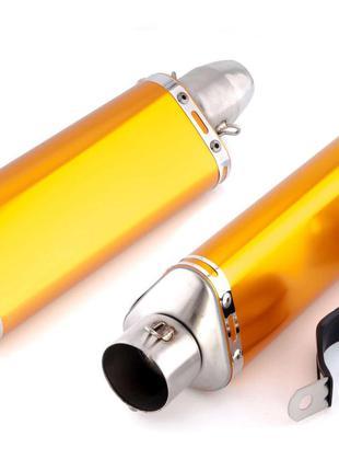 Глушитель (Выхлопная труба) (тюнинг) 400*130мм (нержавейка, тр...