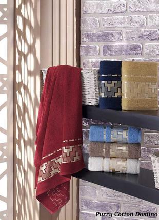 Махровое полотенце   pure cotton domino лицо, баня, сауна. в н...