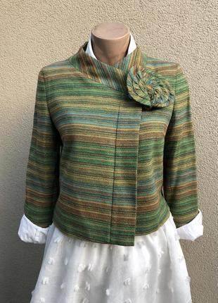 Пиджак,жакет,блейзер с золотой нитью,пиджак без застежки в этн...