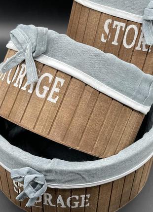 Ящик деревянный декоративный с тканью. 23х11см