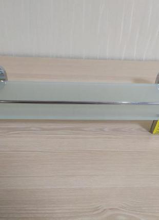 Стеклянная полочка для ванной комнаты (52*14 cм)