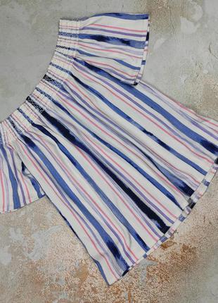 Блуза красивая в полоску трикотажная uk 12-14