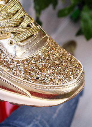 Женские кроссовки золото размеры 36- 41