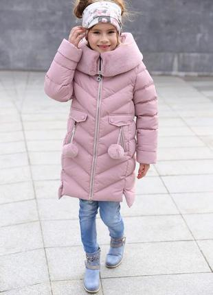 Зимнее пальто на девочку ясмин новинка от тм nui very размеры ...