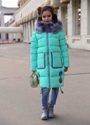 Зимнее на пальто на девочку рейни тм нуи вери размеры 116- 158