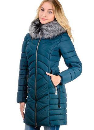 Зимняя удлиненная женская куртка ника размеры 42- 48