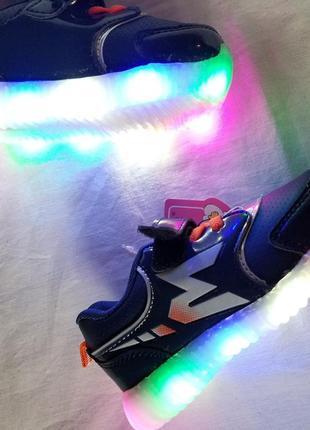 Кроссовки детские на мальчика с led подсветкой