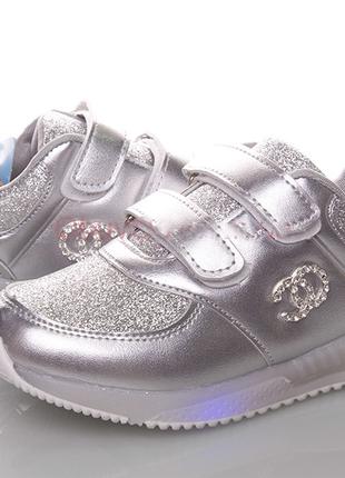 Стильные и красивые led кроссовки для девочек