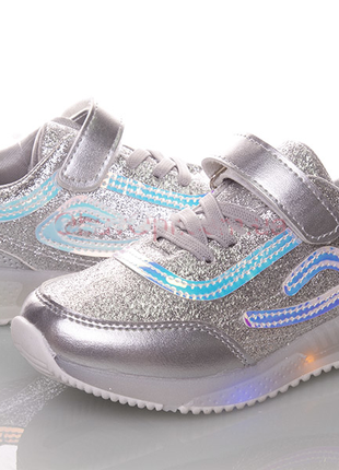 Led кроссовки детские для девочек со светящейся подошвой
