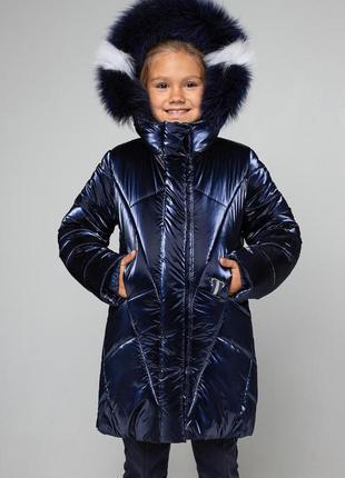 Пальто детское зимнее, пуховик на девочку линда размеры 122- 164
