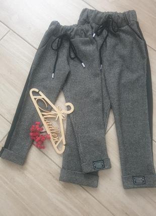 Детские теплые брюки для девочек размеры 98- 128