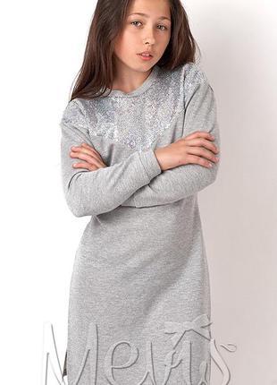 Туника платье нарядное теплое тм mevis 3064 размеры 146- 164