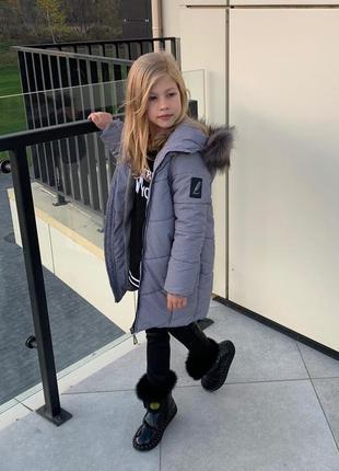 Зимний детский пуховик с модным принтом бетси тм brilliant раз...