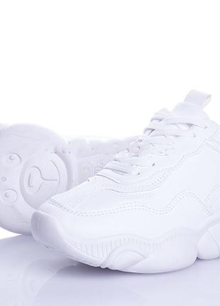 Женские белые модные кроссовки размеры 36 - 40