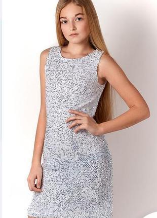 Праздничное платье для девочки подростка в пайетках mevis 3152...