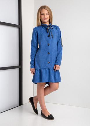 """Стильное замшевое платье на девочку подростка """"юлиана"""" размеры..."""