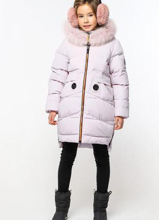 Зимнее пальто на девочку жозефина3 с мехом песца тм nui very  ...