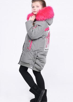 Модная детская парка коттон для девочек x-woyz 8278 размеры 12...