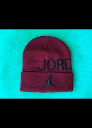 Шапка JORDAN (джордан, цвет бордовый)