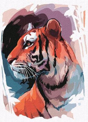 """Картина по номерам """"Взгляд тигра"""" ★★★"""