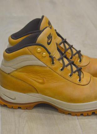 Nike acg мужские ботинки зимние кожа нубук оригинал