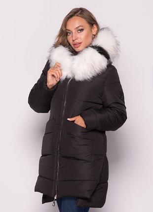 Зимняя куртка на силиконе черная