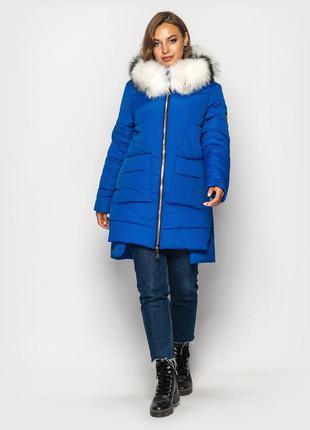 Зимняя куртка на силиконе электрик