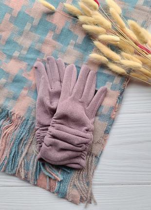 🧤 перчатки мягкие лиловые