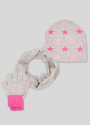 Набор шапка, снуд, перчатки с&а, германия