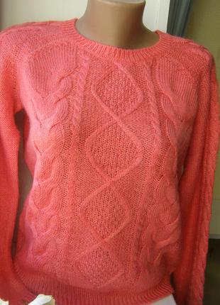 H&m актуальный свитер косы m-размер